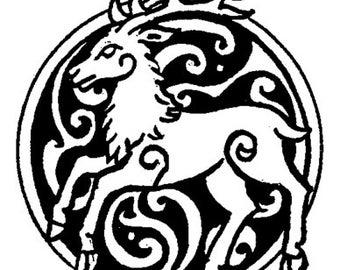 Celtic Stag Die-cut vinyl decal