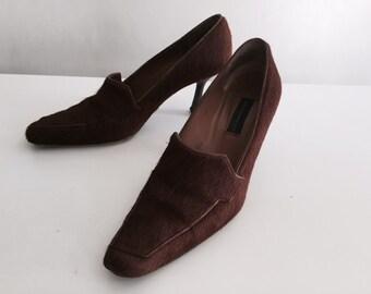 Adolfo Dominquez Pony Heels