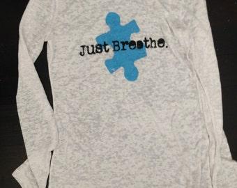 Autism awareness Woman's burnout long sleeve shirt