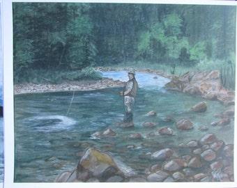 Fishing - Main River Print