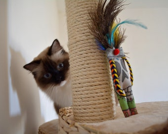Funny Catnip Cat Toy with Feathers - Christmas stocking filler