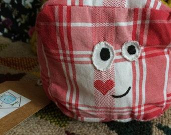 Mini Stuffy Cushion (Red heart check)