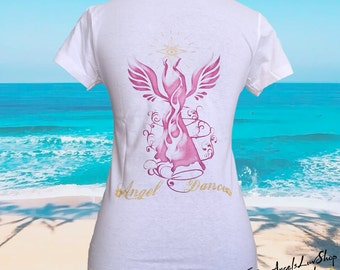 T-shirt cup fitted Ange Angel Dance Art Design