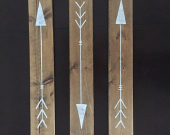 Wood arrows | baby nursery | wall art | tribe tribal | nursery decor| baby room | housewarming gift