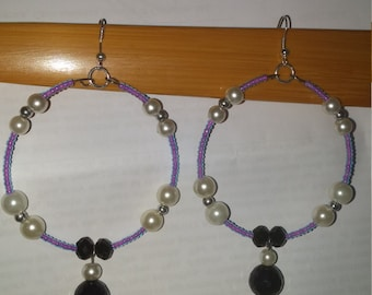 Royalty Dangle Hoops
