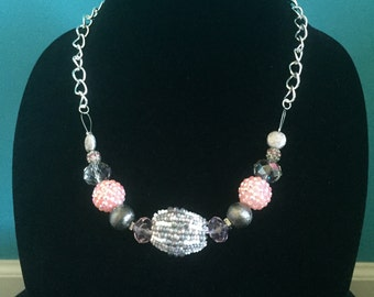 Pink & Grey Necklace