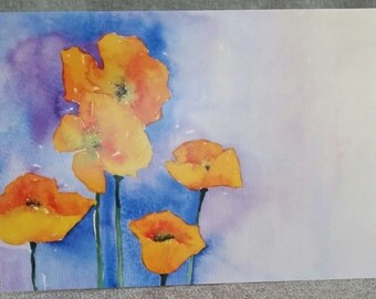 """Greeting Card, """"Poppies for Sarah"""""""