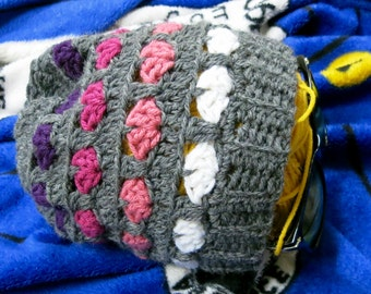 Grey and Purple Hat