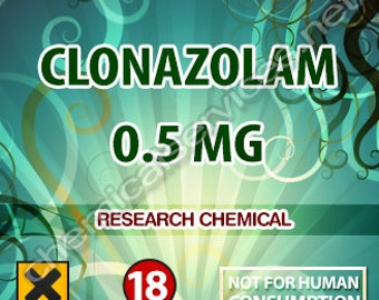 Clonazolam 50mg pg solution . 0.5mg -.1ML