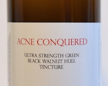 Ultra Strength Green Black Walnut Hull Tincture 16 Oz. by Acne Conquered