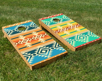 Navajo Pattern Cornhole Board Set