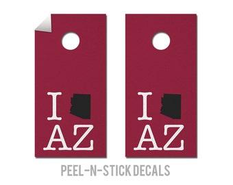 Arizona - Cardinals - State Pride - Cornhole Board Decals