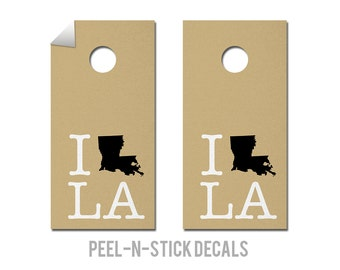 New Orleans - Saints - State Pride - Cornhole Board Decals