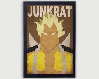 Overwatch Junkrat Poster, Junkrat Vector, Junkrat Minimalist, Junkrat Fan Art, Junk Rat Poster, Junkrat Print, Overwatch Print, Overwatch