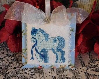 Cross stitch PDF pattern January Jordyn Pony