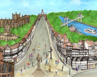 Unique Chester Cross A6 Greeting Card