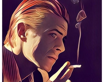 David Bowie (ver 2) poster Print (fan art graphic)