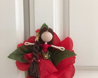 Rose flower doll