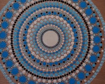Blue Dotillism Mandala
