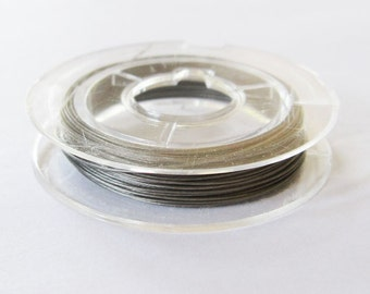 Silver Tone Tiger Tail Beading Wire.  Jewelry Supplies.