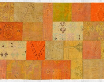Vintage patchy rug