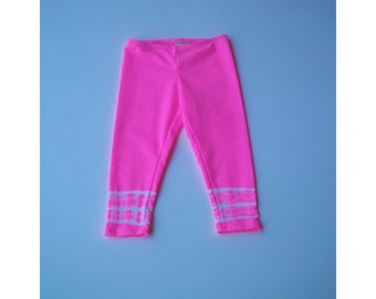 Just because leggings in gum ball pink - girls