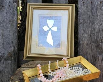 Family Mirror Cross Art - Wall Cross - Cross Decor - Unique - Gold Frame - Christian Decor - Religion - Housewarming Gift - Religious Gift