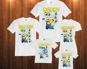 Minions Birthday Shirt Custom personalized shirts for all family,