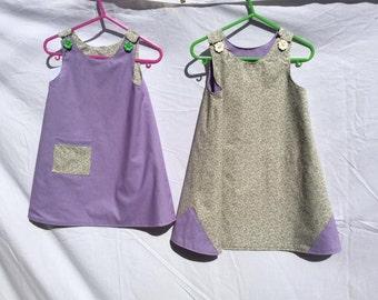 Mauve reversible dress