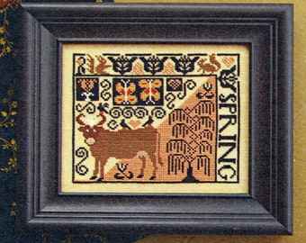 Spring by Carriage House Samplings Counted Cross Stitch Pattern/Chart