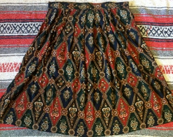 90's Plus Size Baroque-esque Skirt