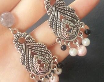 Chandelier Drop Pearl Earrings