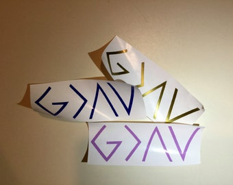 God is Greater Than the Ups and Downs Decal