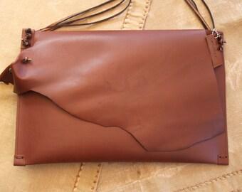 Designer handbag leather