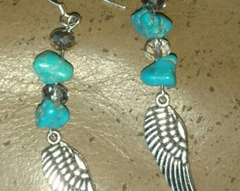 Dangle Wing Earring