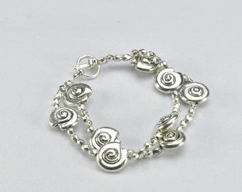 Two Level Snail Bracelet- 0052,0072