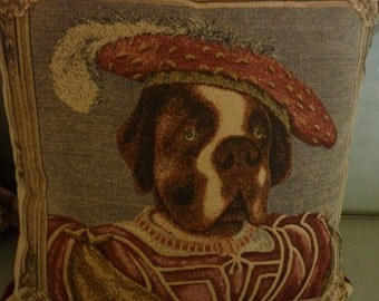 Top Dog tapestry pillow