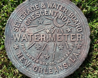 New Orleans Water Meter Cover - Verdigris - Antique Copper