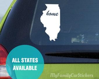Custom State Decal Vinyl Custom State Car Sticker Custom