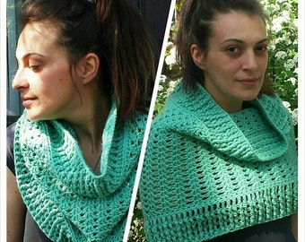 Multi use scarf/cowl ready to ship Textured mint green