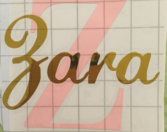 Personalized Letter and name vinyl