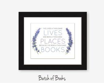 Read a Thousand Books printable digital art print