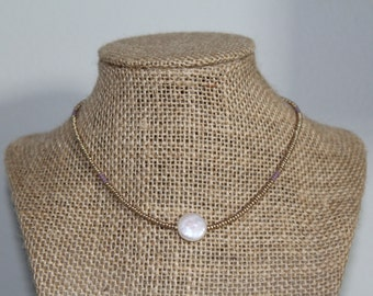 White and Purple Necklace
