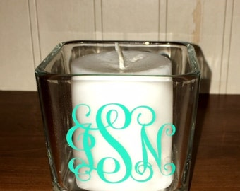 Personalized Candle Holder, Monogrammed Candle Holder
