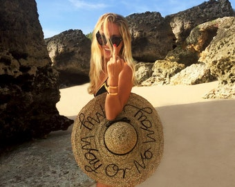 My Way or No Way - Handmade Beach Hat