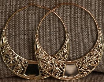"""Very Big Aluminum Tribal Earrings 4""""x4"""""""