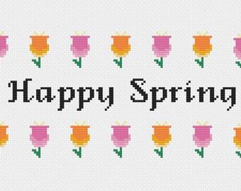 Happy Spring - Cross Stitch Pattern