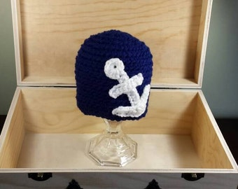 SALE Baby anchor hat-nautical hat-nautical anchor hat-baby boy hat-baby girl hat-ready to ship