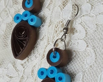 Colored paper pendants, earrings, quilling, gift ideas, accessories, jewelry, accessories, jewels, earrings, jewelry, gift idea, paper