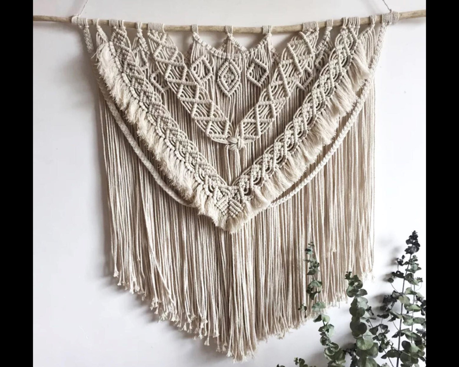 Woven wall hanging large macrame wall hanging by for Wall hanging